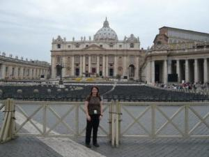 Kathi at the Vatican