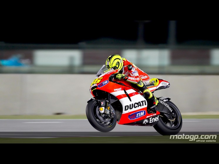 valentino rossi ducati 2011 qatar. This weekend the 2011 MotoGP